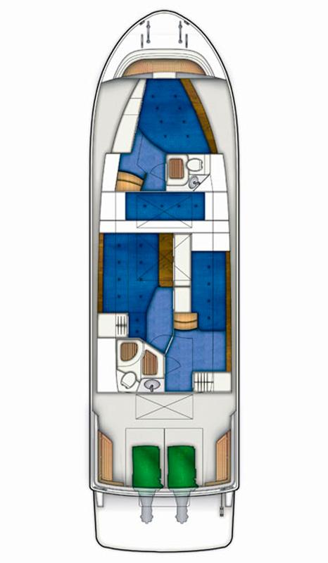 Схема яхты Targa 44