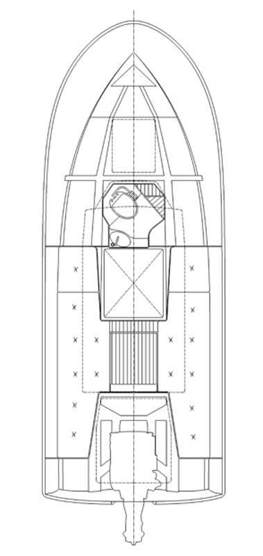 Схема катера Targa TarFish TF 770