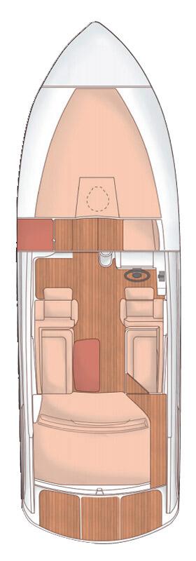 Схема катера Windy 26 Kharma
