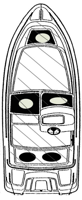 Схема катера Yamarin 44 Side Console