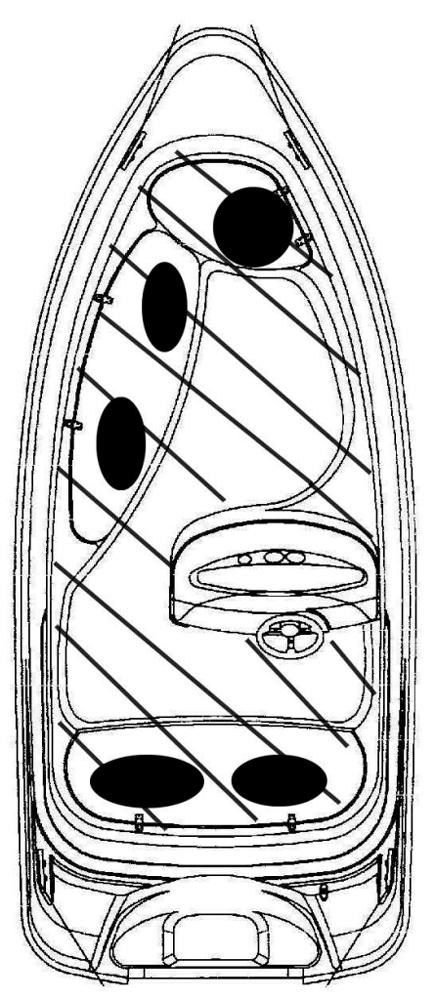 Схема катера Yamarin 46 Side Console