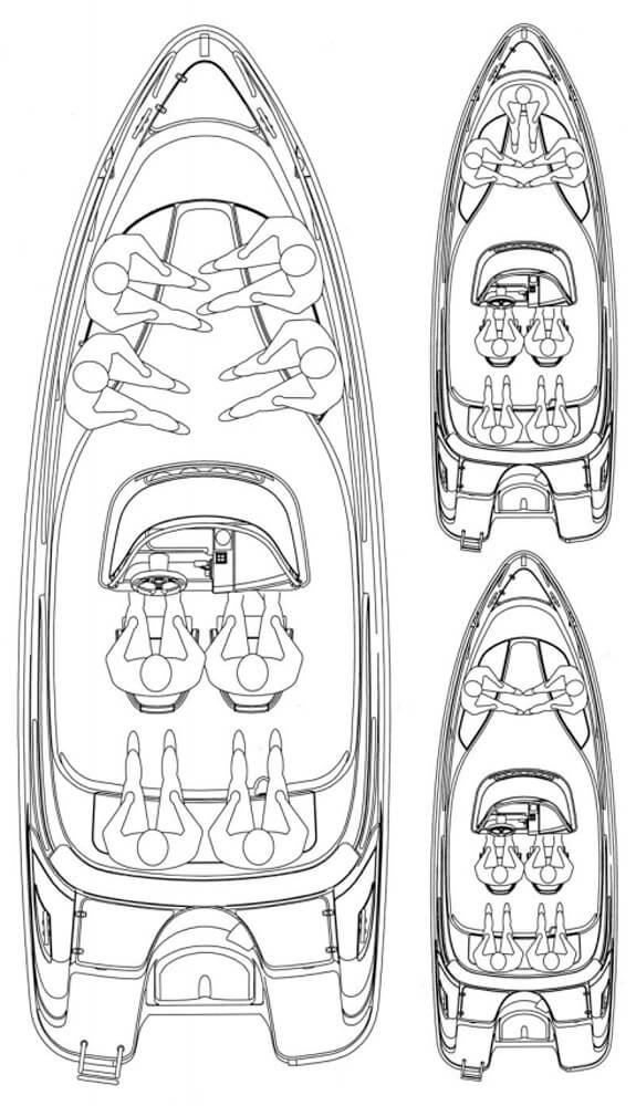 Схема катера Yamarin 61 Center Console