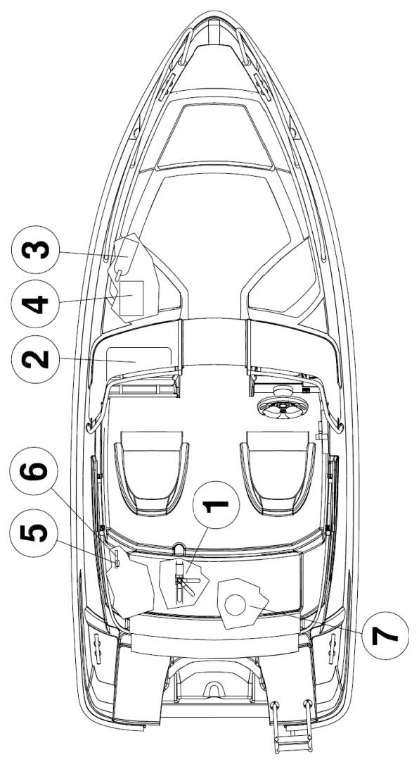 Схема катера Yamarin Cross 49 Bow Rider