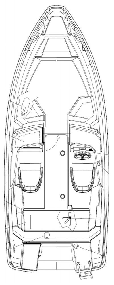 Схема катера Yamarin Cross 54 Bow Rider