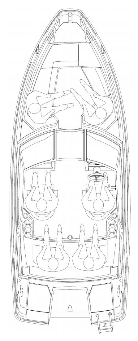 Схема катера Yamarin Cross 57 Bow Rider