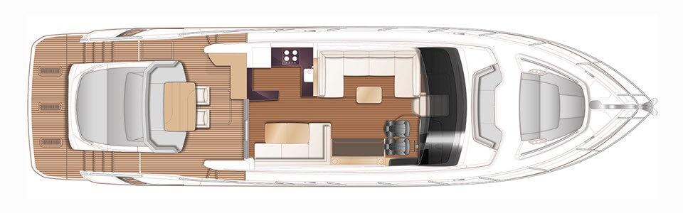 Яхта Princess V60