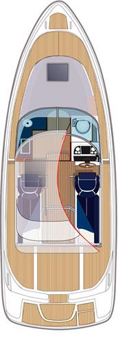 Схема катера Aquador 28 C