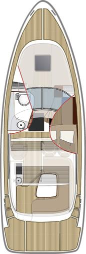 Схема яхты Aquador 30 ST