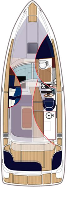 Схема яхты Aquador Boats Cabin 32 C