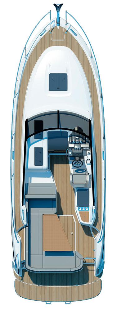 Схема катера Bavaria Sport 300 Open