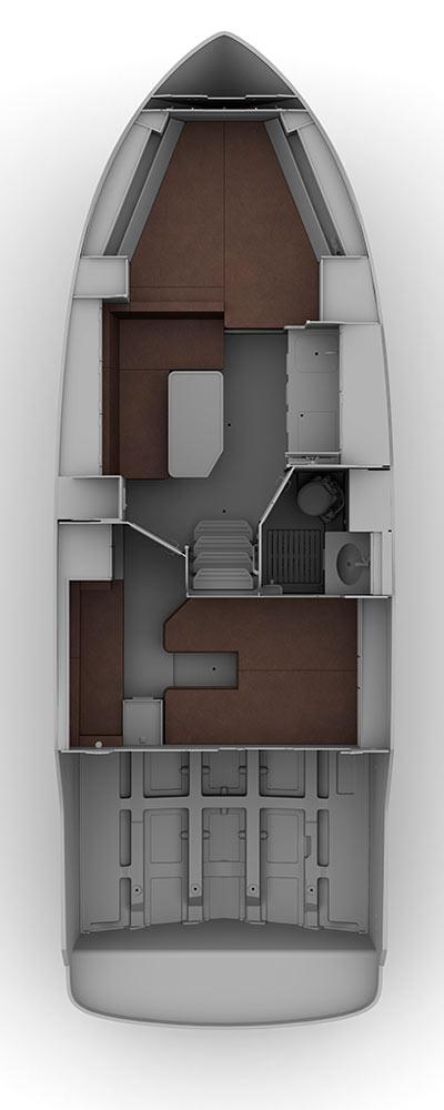 Схема яхты Bavaria Sport 330 HT