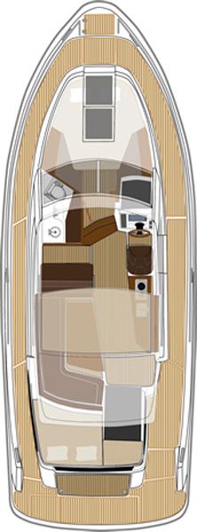 Cхема яхты Cabin Cruiser 9000