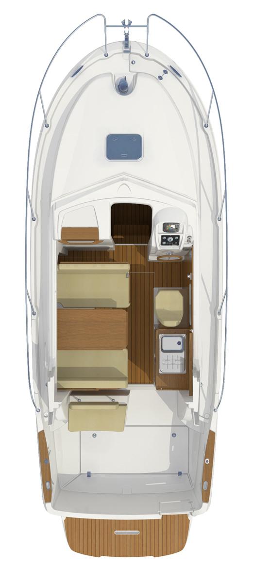 Схема яхты Beneteau Antares 8