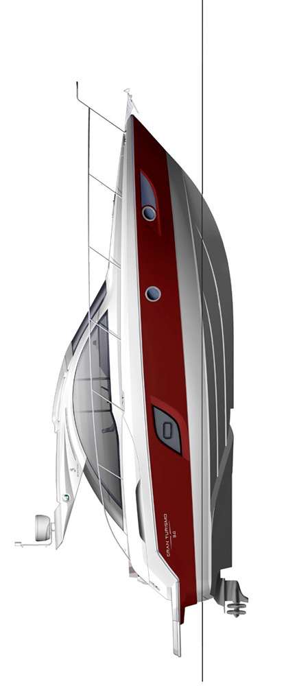 Схема яхты Beneteau Gran Turismo 34