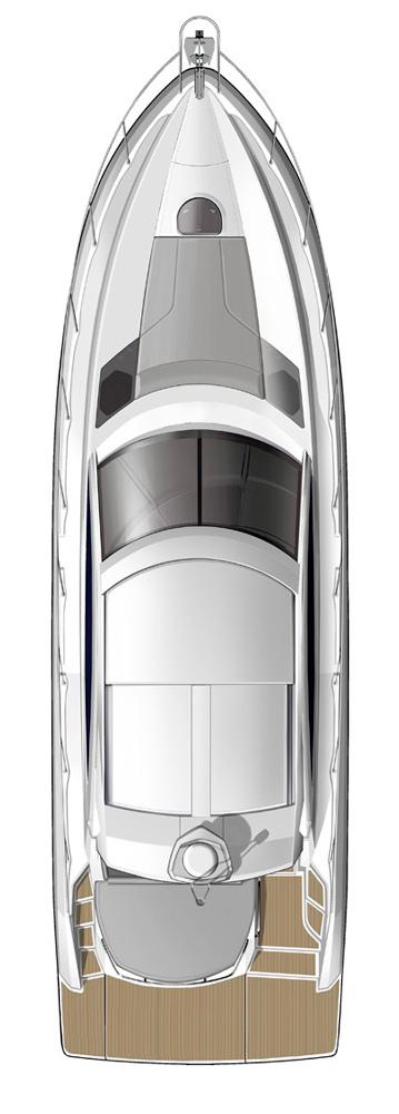 Схема яхты Beneteau Gran Turismo 44