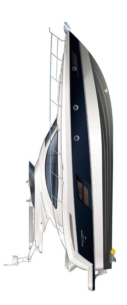 Схема яхты Beneteau Gran Turismo 49 FLY