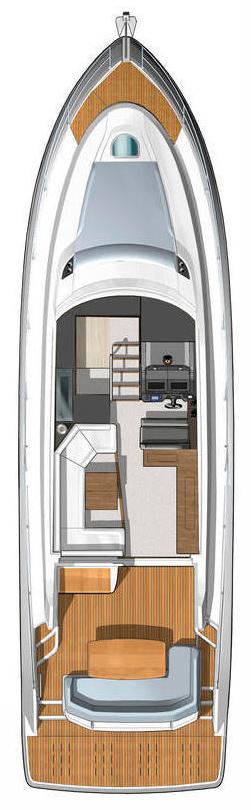 Схема яхты Beneteau Gran Turismo 49
