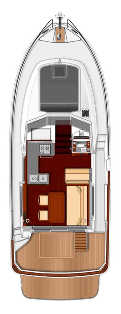 Схема яхты Beneteau Swift Trawler 34S