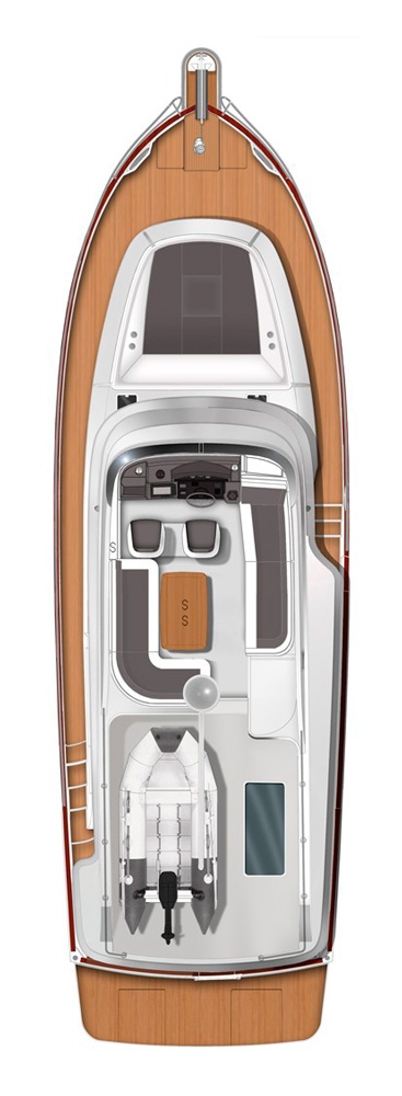Схема яхты Beneteau Swift Trawler 44
