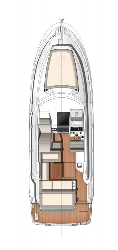 Схема яхты Jeanneau Leader 36