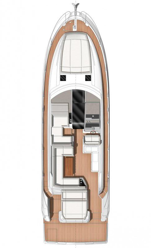 Схема яхты Jeanneau Leader 46