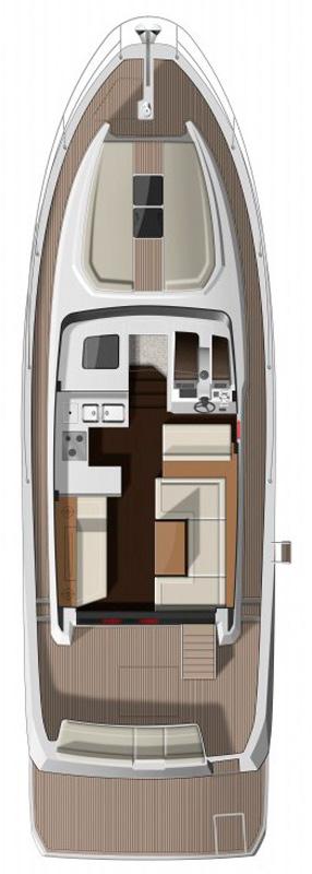Схема яхты Jeanneau Velasco 43