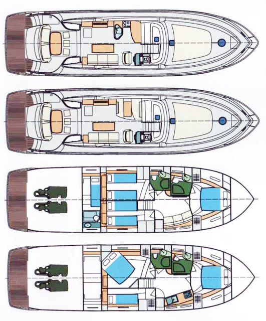 Схема яхты Pearlsea 56 Coupe