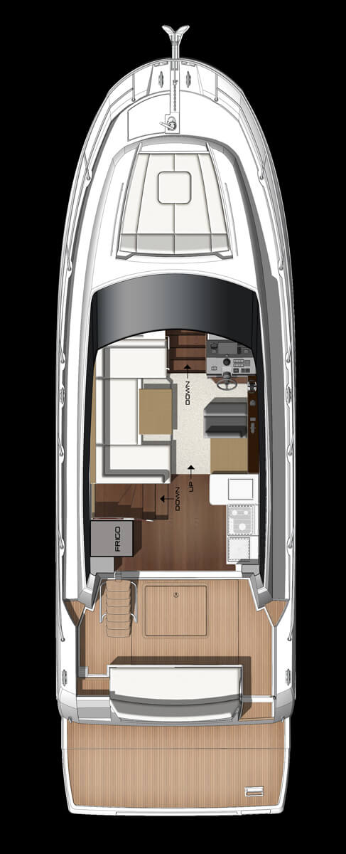Схема яхты Prestige 420S