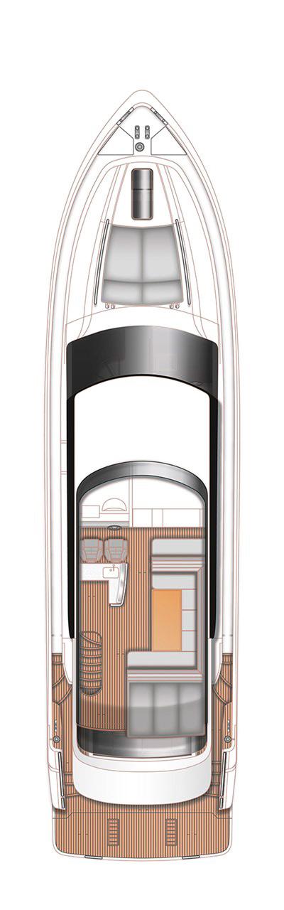 Схема яхты Princess 64