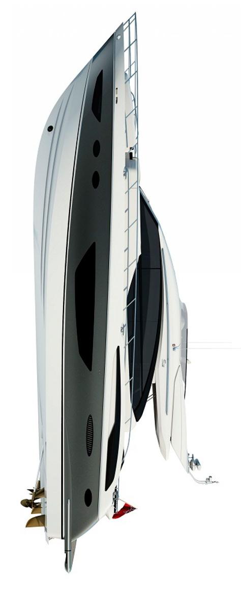 Схема яхты Princess S72