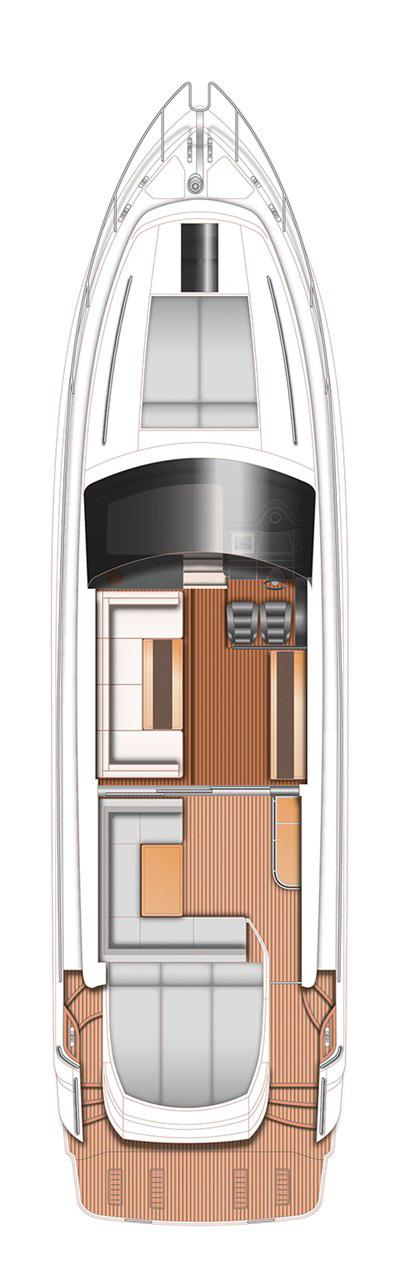 Схема яхты Princess V57