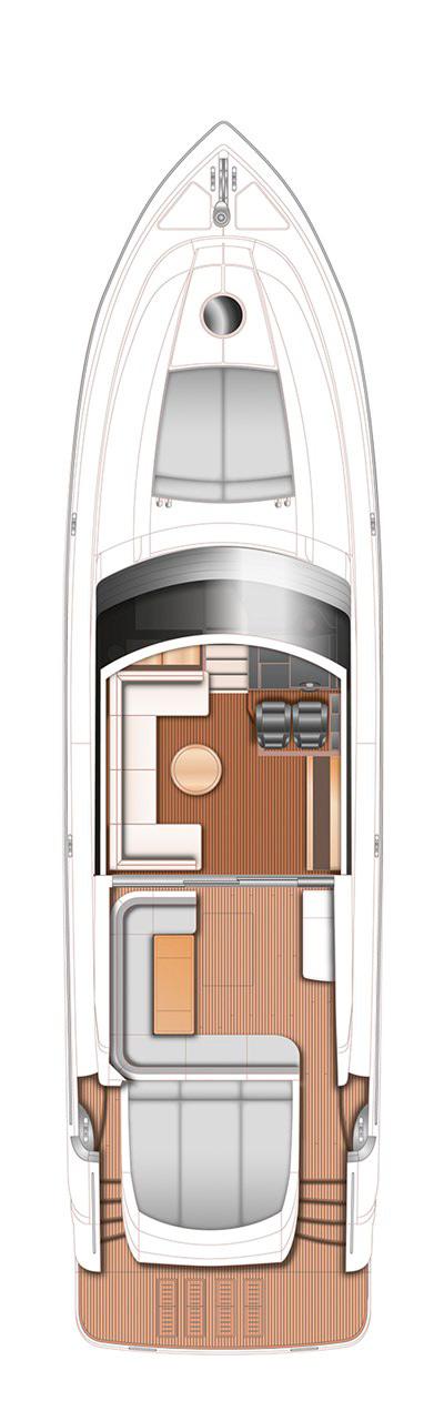 Схема яхты Princess V62-S