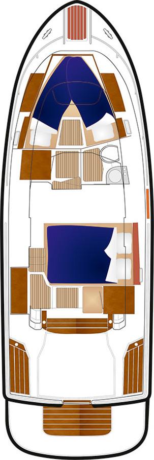 Схема яхты Sargo 31
