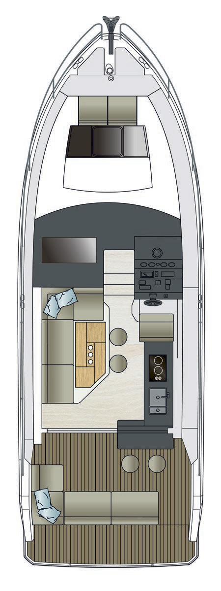 Схема яхты Sealine C330