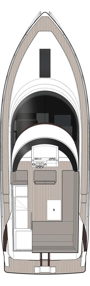 Схема яхты Sealine F450