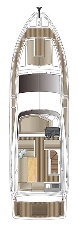 Схема яхты Sealine F530