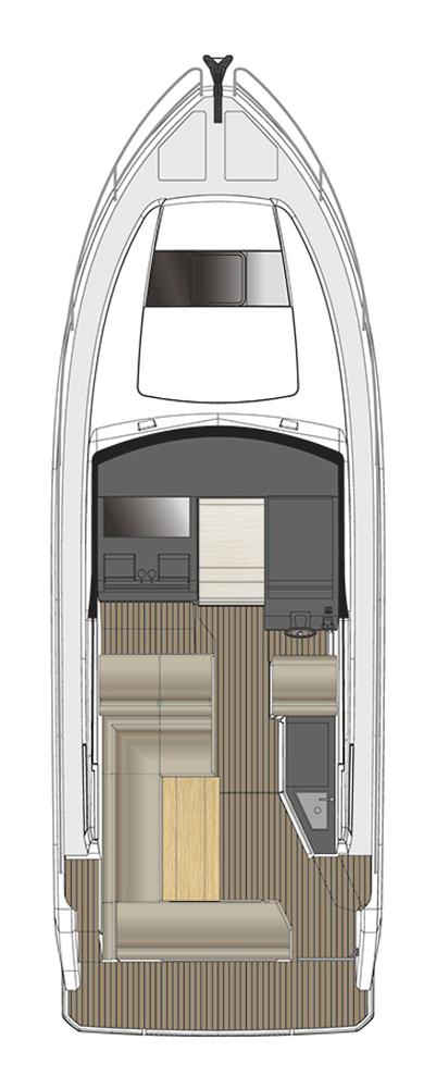 Схема яхты Sealine S330