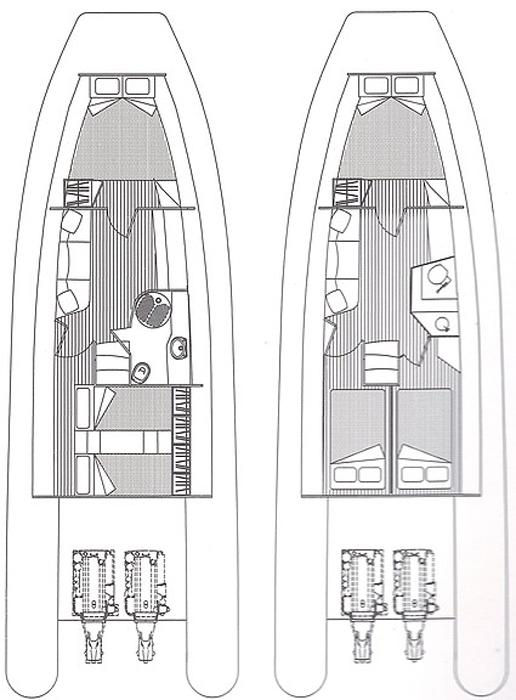 Схема яхты Solemar 44.1 Oceanic