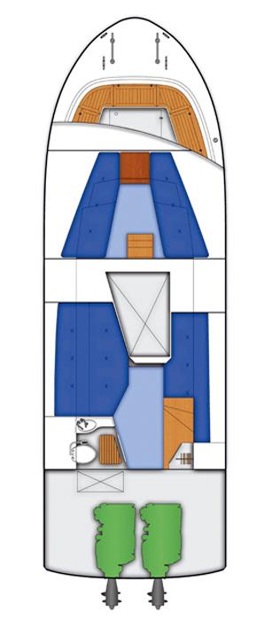 Схема яхты Targa 35