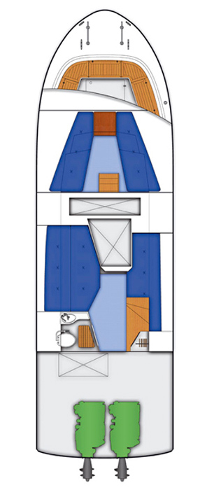 Схема яхты Targa 37