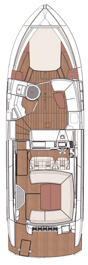 Схема яхты Windy 40 Maestro