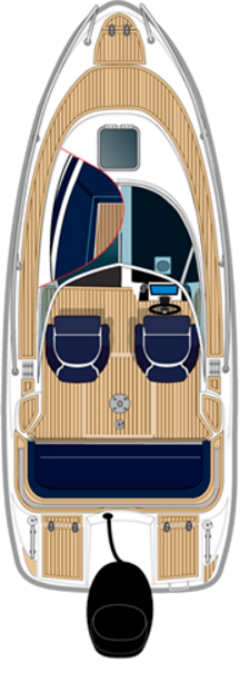 Схема Катера Aquador Boats Walkaround 21 WAe