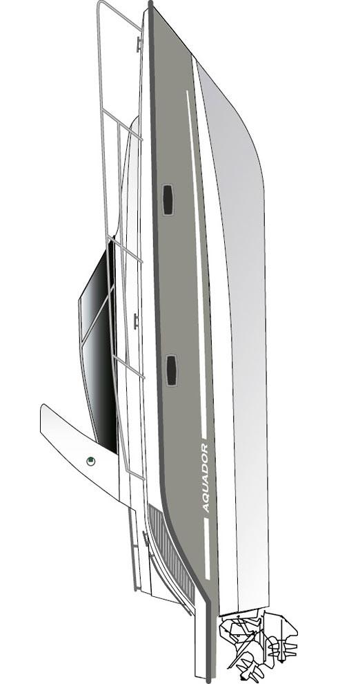 Схема катера Aquador 30 DC