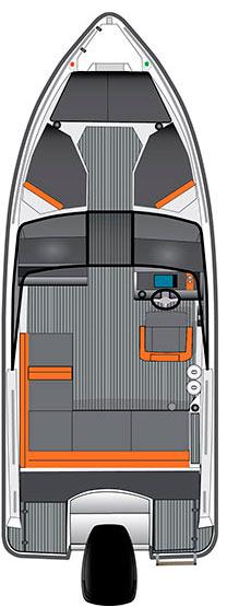 Схема катера Bella 550 BR