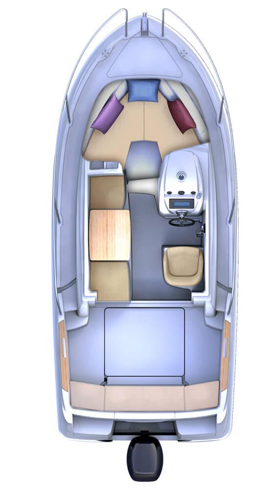 Схема катера Beneteau Antares 5.80