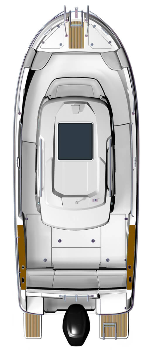 Схема катера Beneteau Barracuda 7