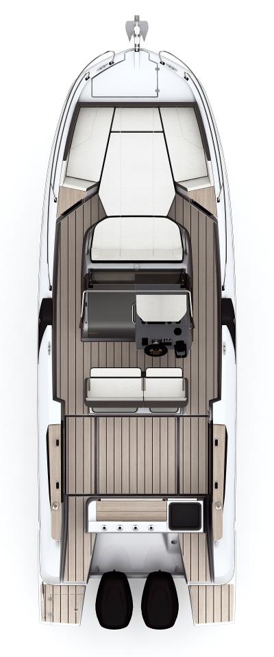 Схема катера Beneteau Flyer 8.8 SPACEdeck