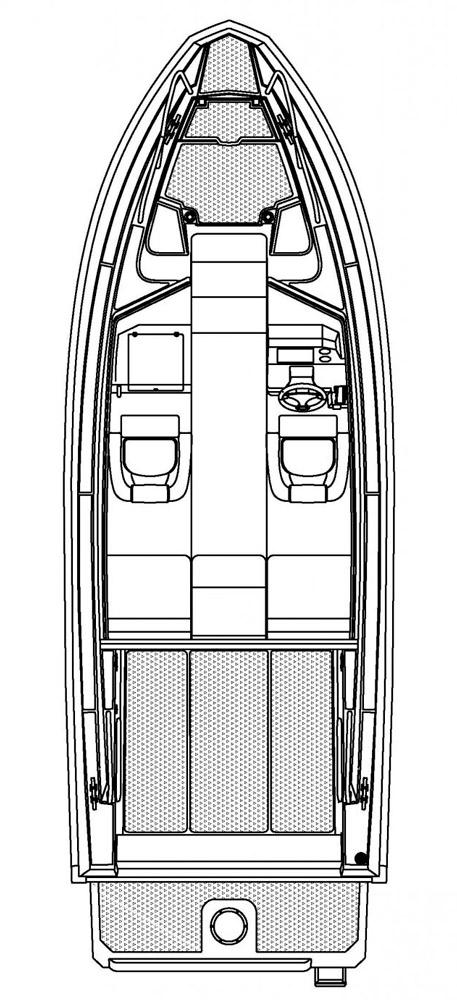 Схема катера Buster Cabin E
