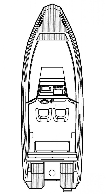 Схема катера Buster Magnum Pro