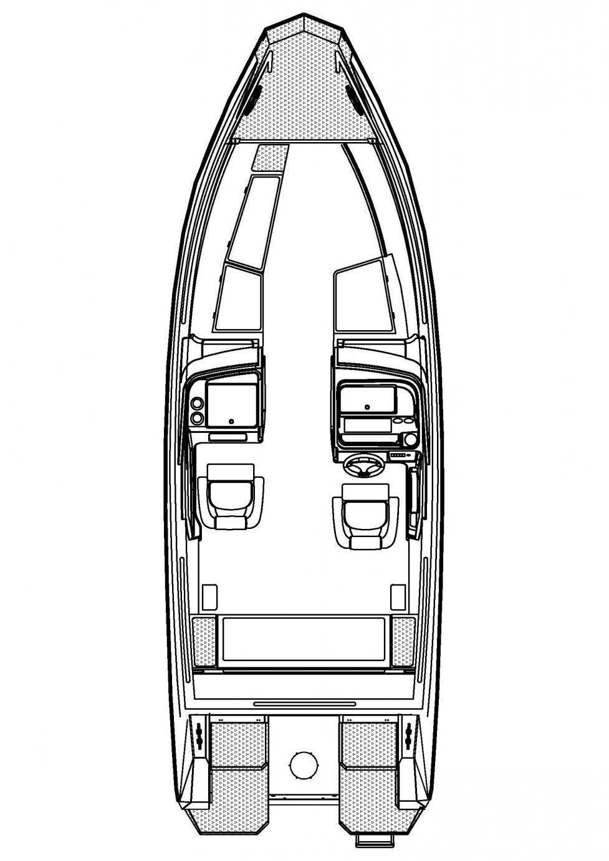 Cхема катера Buster SuperMagnum